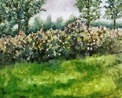 Painting - Lilac Bushes In Springtime by Michelle Calkins