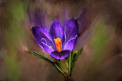 Digital Art - Lilac Crocus Abst.#h4 by Leif Sohlman