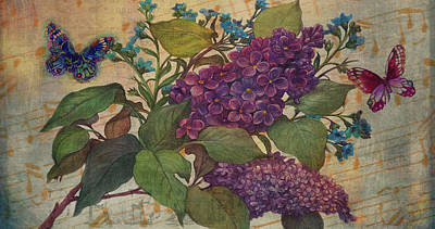 Painting - Lilac Dreams Illustrated Butterfly by Judith Cheng