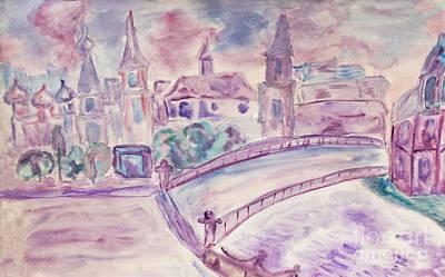 Painting - Lilac Dreamtown by Irina Afonskaya