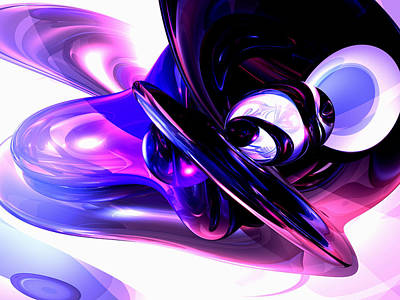 Lilac Fantasy Abstract Art Print by Alexander Butler
