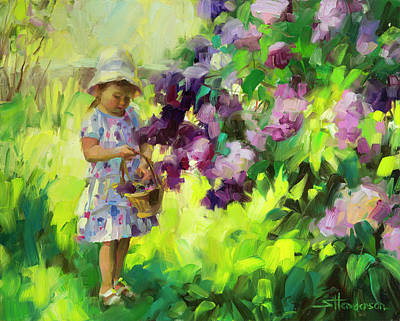 Abstract Landscape Painting - Lilac Festival by Steve Henderson