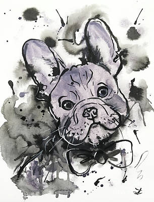 Lilac Frenchie Art Print