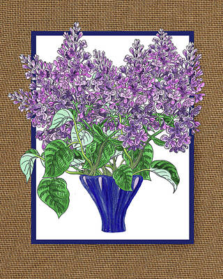 Painting - Lilac Garden Bouquet Watercolor by Irina Sztukowski