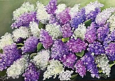 Lilac Glamour Art Print