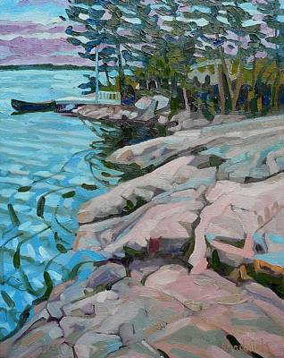 Keepers Cottage Painting - Lilac Island Edge by Phil Chadwick