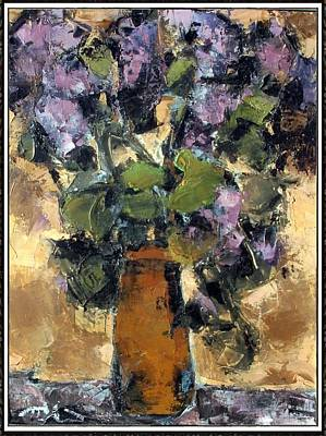 Painting - Lilac  L1 by Petko Pemaro