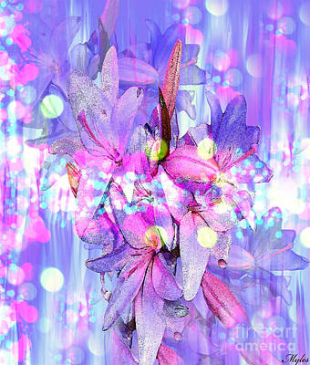 Painting - Lilac Lily And Lights by Saundra Myles