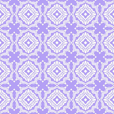 Digital Art - Lilac Modern Decor Design by Georgiana Romanovna