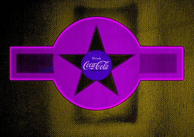 Coca-cola Painting - Lilac On Orange by Charles Stuart