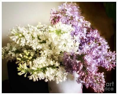 Photograph - Lilac Still Life by Patricia E Sundik