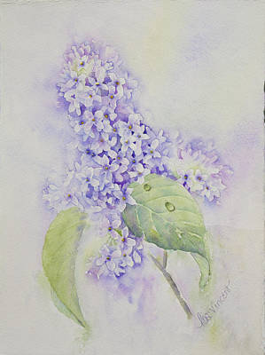 Painting - Lilac Study by Lisa Vincent
