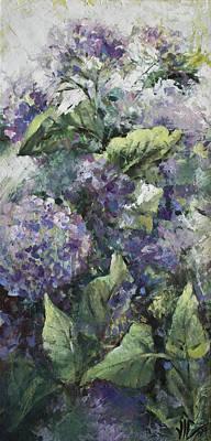 Hydrangea-modern Palette Knife Abstract Flower Original