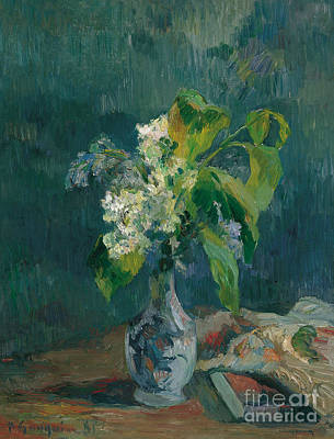 Painting - Lilacs, 1885 by Paul Gauguin