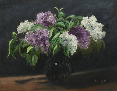 Painting - Lilacs by Alan Mager