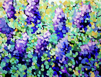 Wall Art - Painting - Lilacs by Alison Newth