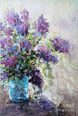 Painting - Lilacs by Alla Dickson