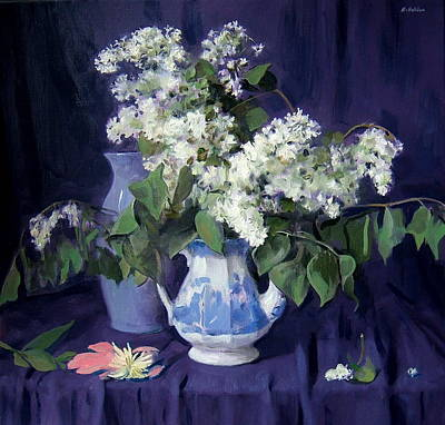 Lilacs And Blue Art Print
