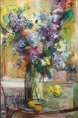 Lilacs And Lemons Art Print by Blake Originals - Marjorie and Beverly