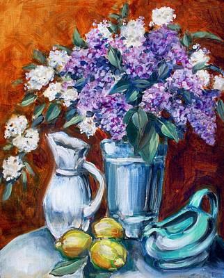 Painting - Lilacs And Lemons by Sheila Tajima