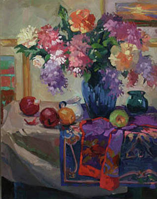 Painting - Lilacs And Peonies by Betty Jean Billups