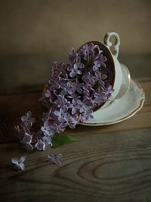 Coming Out Photograph - Lilacs And Teacups by Jaroslaw Blaminsky