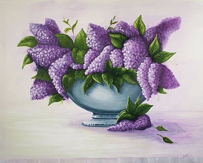 Painting - Lilacs by Ann Lauwers
