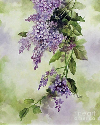 Painting - Lilacs by Becky West