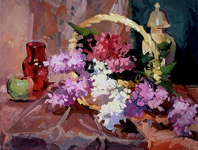 Painting - Lilacs by Betty Jean Billups