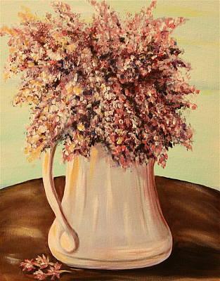 Lilacs For Mom Art Print by Dyanne Parker