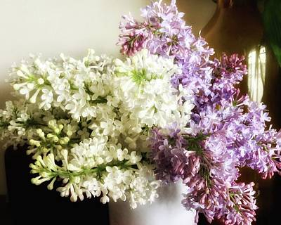 Photograph - Lilacs From The Portland House Gardens by Patricia E Sundik