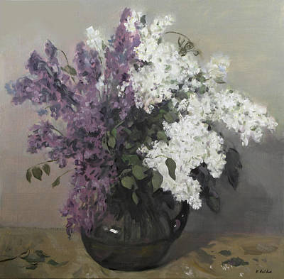 Painting - Lilacs Half And Half by Robert Holden