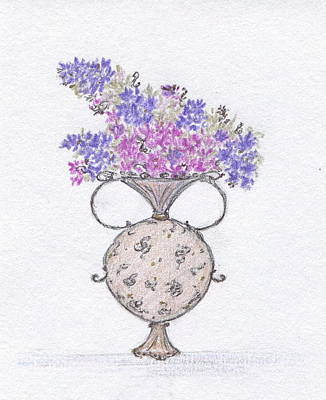Painting - Lilacs In An Urn by Christine Corretti