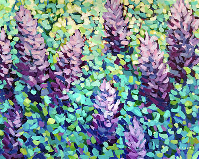 Wall Art - Painting - Lilacs In Bloom by Alison Newth