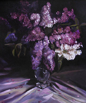 Painting - Lilacs by Nancy Griswold