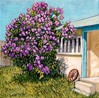 Lilacs Of Taos Art Print by Donna Clair