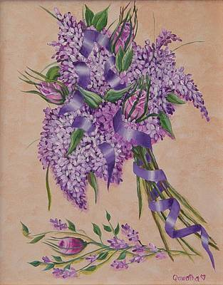 Painting - Lilacs by Quwatha Valentine