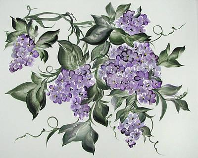 Lilac's Splendor Art Print by Patty Muchka