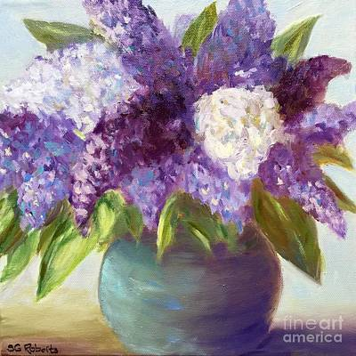 Stil Life Painting - Lilacs by Suzanne Roberts