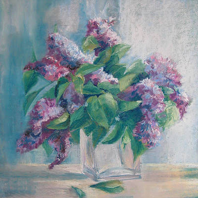 Pastel - Lilacs by Synnove Pettersen