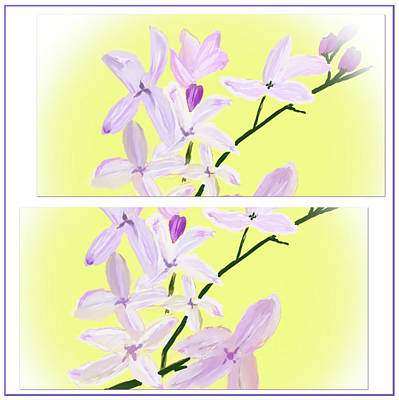 Digital Art - Lilacs Up Close by Dick Bourgault