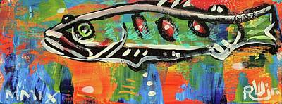 Painting - Lil'funky Folk Fish Number Fifteen by Robert Wolverton Jr