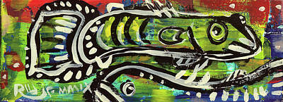 Painting - Lil'funky Folk Fish Number Sixteen by Robert Wolverton Jr