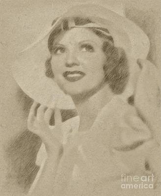 Fantasy Drawings - Lilian Bond, Actress by Frank Falcon
