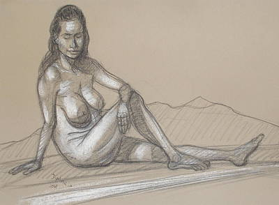Drawing - Liliana Reclining 3 by Donelli  DiMaria