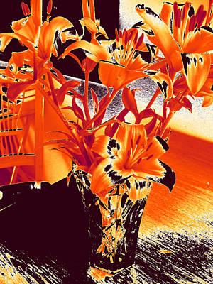 Photograph - Lilies #2 by Anne Westlund