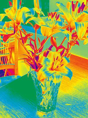 Photograph - Lilies #3 by Anne Westlund