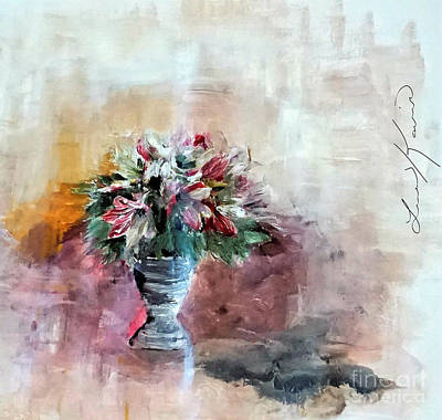 Digital Art - Lilies And A Blanket Painting by Lisa Kaiser