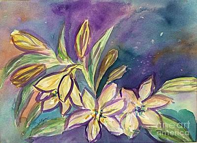 Painting - Lilies And Buds  by Ellen Levinson
