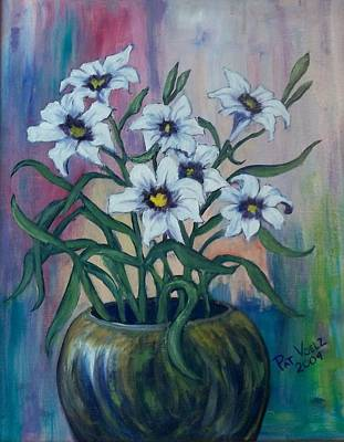 Painting - Lilies Are Free by Patricia Voelz
